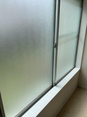 カビを落とした窓