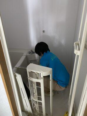 エアコンのカバーもしっかりと洗浄